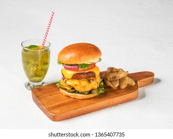 American fast food hamburger