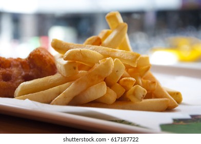 American fast food, morning food french fries