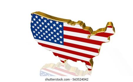 American flag background,illustration