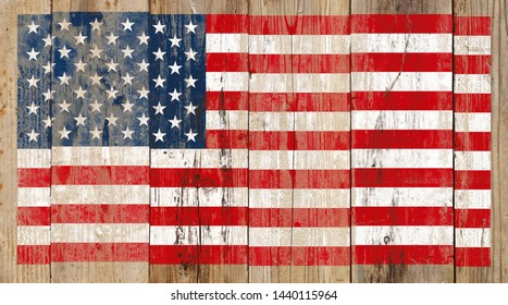 American flag, board, rough, grunge, country
