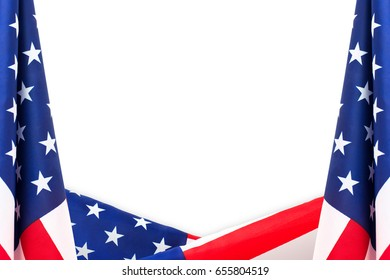 american flag border isolated on white stock photo edit now