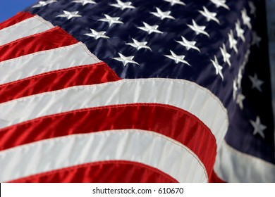 American Flag in breeze