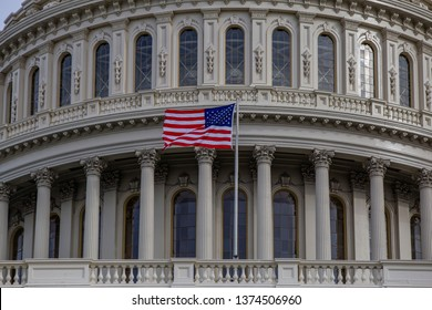 American Flag Capitol Dome