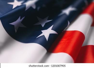 American Flag Close Up