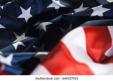 American flag, close,