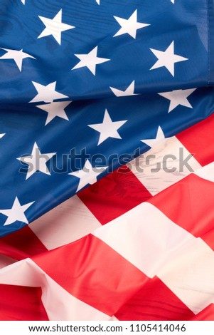 d72a95ac928a American flag close up. Stars and stripes satin flag background. USA flag  wallpaper.
