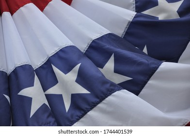 American Flag closeup on a windy day