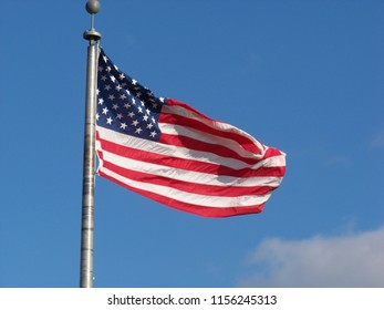 American Flag collection with beautiful sky background.