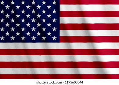 American Flag, with a fabric texture