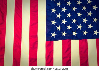 American flag ( Filtered image processed vintage effect. )