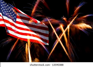The American Flag and fireworks display.  Great for the 4th of July and Labor Day.