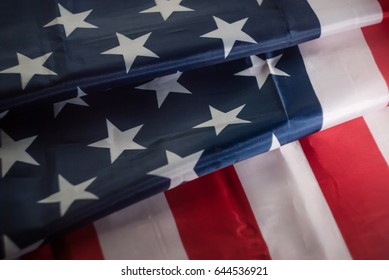 American flag, folded several times,