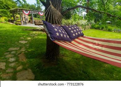 American flag hammock