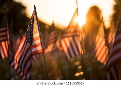 American Flag memorial