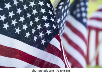 american flag for memorial day or veterans day