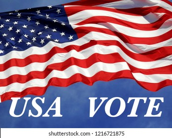 American Flag with message urging Americans to go out and VOTE