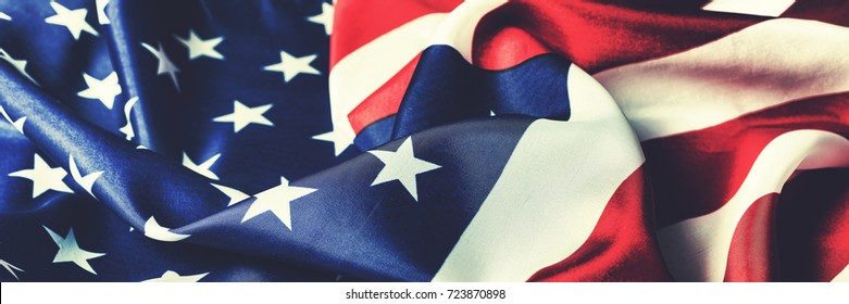 American flag. The national symbol of the USA. independence Day