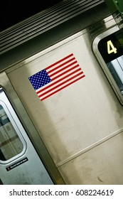 American flag in New York City,New York City,USA