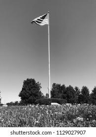 American flag on the pole (Nostalgic)