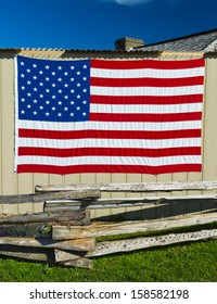 American Flag on Shed