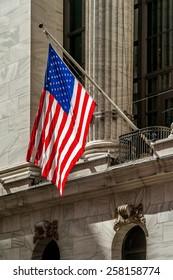 American Flag on Wall Street