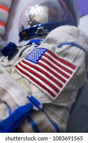 American Flag patch on Astronaut space suit shoulder