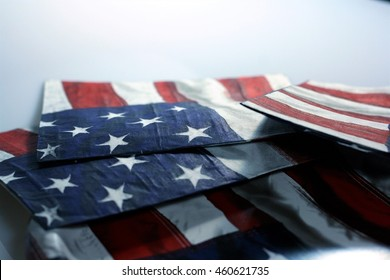 The American Flag representing freedom, unity, and under one God