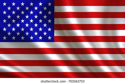 """American flag . A series of """"Flags of the world."""" ( The country - American  flag )"""