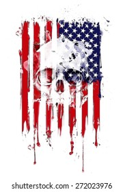 American flag with some grunge effects and lines,Vertical composition vector american flag in grunge style,American grunge flag,old American flag,Perfect for text placing,t-shirt graphics,