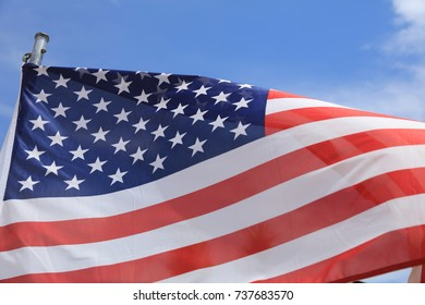 American Flag - Stars and Stripes - blowing in the wind