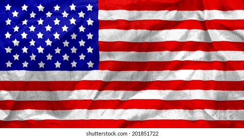 American flag texture with ripples