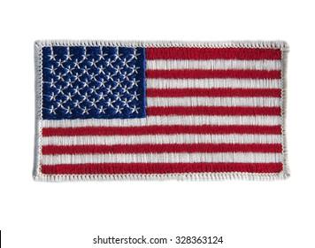 american flag uniform badge