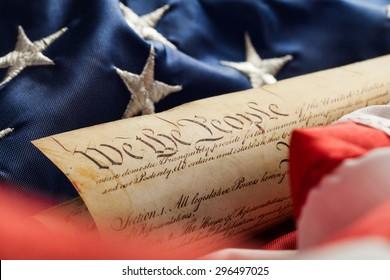 American Flag, US Constitution, Patriotism.