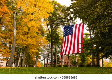 American Flag at Veterans Home