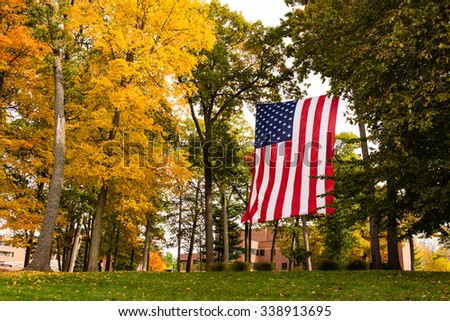 American Flag at Veterans Home