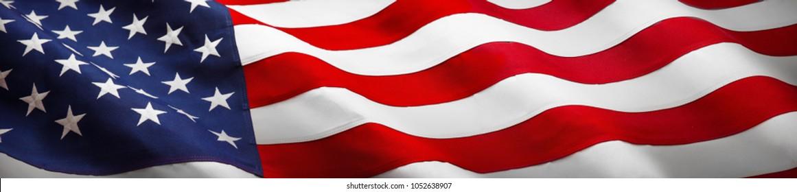 American Flag Wave Close Up for Memorial Day oder 4. Juli