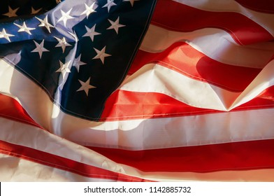 American flag waving background. Independence Day, Memorial Day, Labor Day