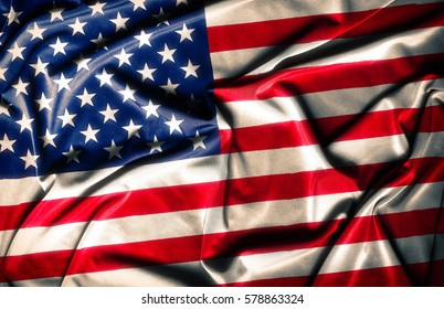American Flag - waving fabric