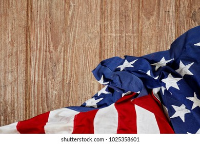 american flag wooden background.The Flag Of The United States Of America. The place to advertise, Presidents day USA