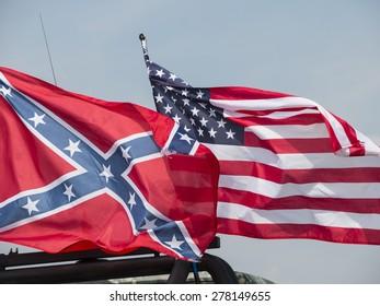 American flags at the annual Americana Show 2014, near Loughborough,UK. taken 05/10/2014