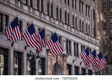 American flags, New York