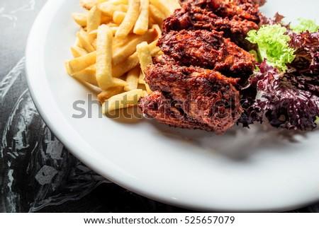 American Food Close Food Restaurant Menu Stock Photo Edit Now