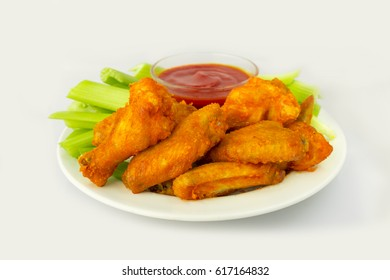 American food, spicy chicken wings