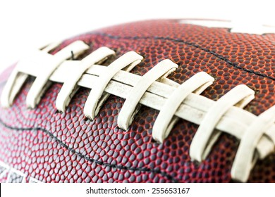 American footbal ball close up