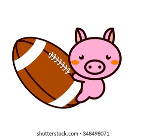 American football and Animal Series