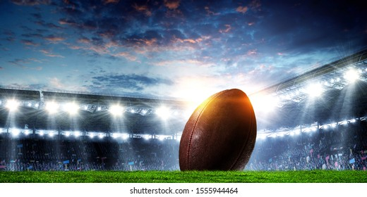 stade de football américain. Médias mixtes