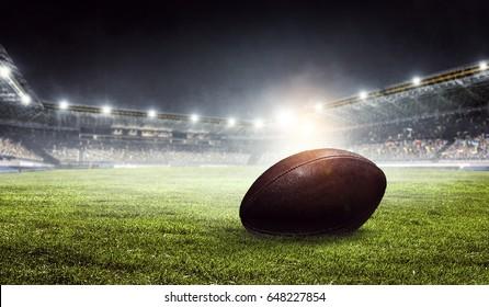 American football arena. Mixed media