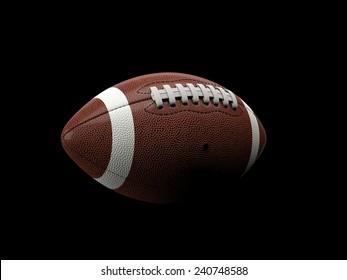 american football ball 3d background