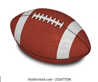 American Football ball. 3d render