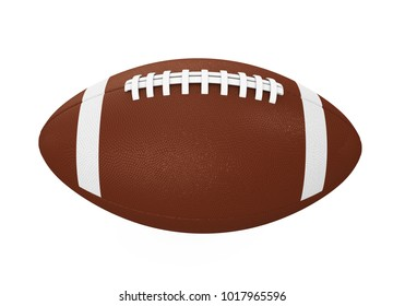 American Football Ball Isolated. 3D rendering